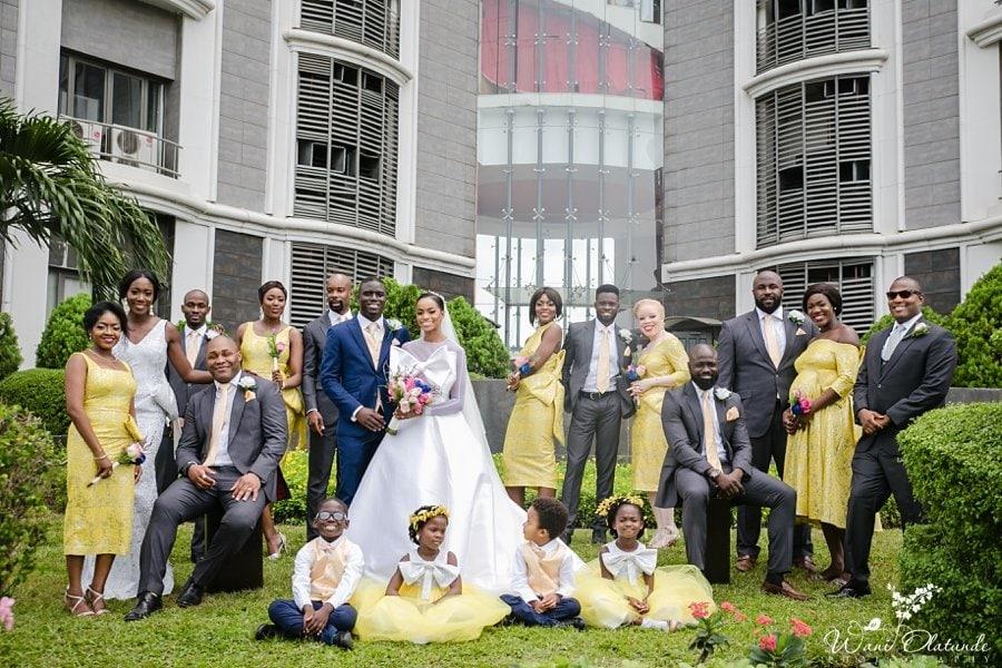 yellow bridesmaids dresses ituen basi lagos wani olatunde