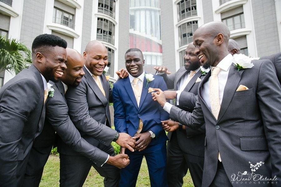 groomsmen lagos wedding wani olatunde