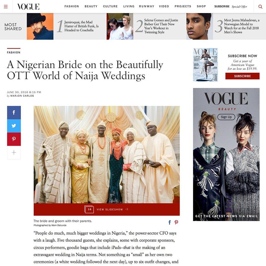 Wani Olatunde Vogue