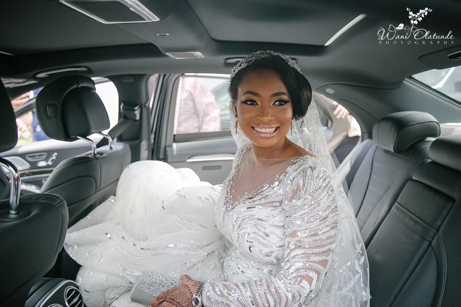 bride smiling in car faaji2018 wani olatunde