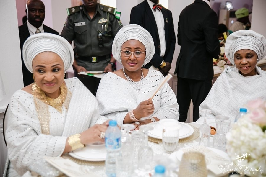 buhari wife at kano governor daughter wedding faaji2018 wani olatunde