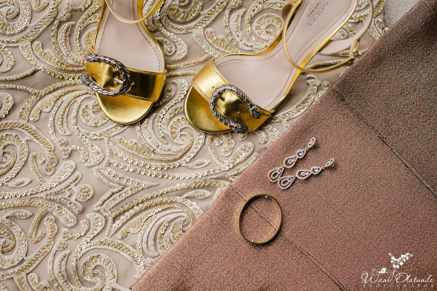 gold and bronze lace yoruba wedding wani olatunde
