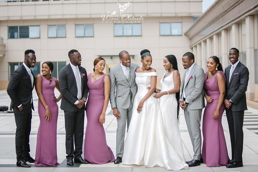 pin and lace bridesmaids wani olatunde