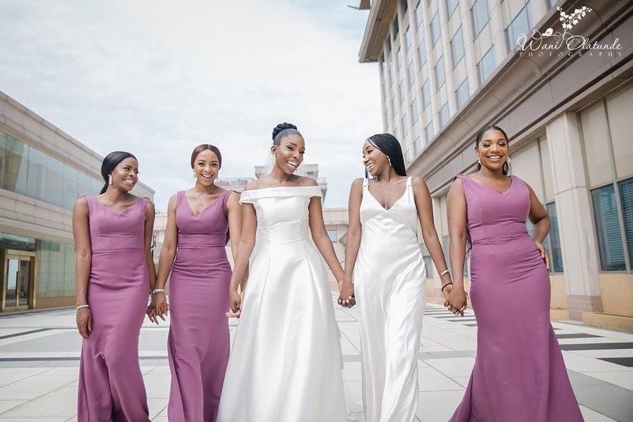 bridal party outdoor lagos weddings wani olatunde