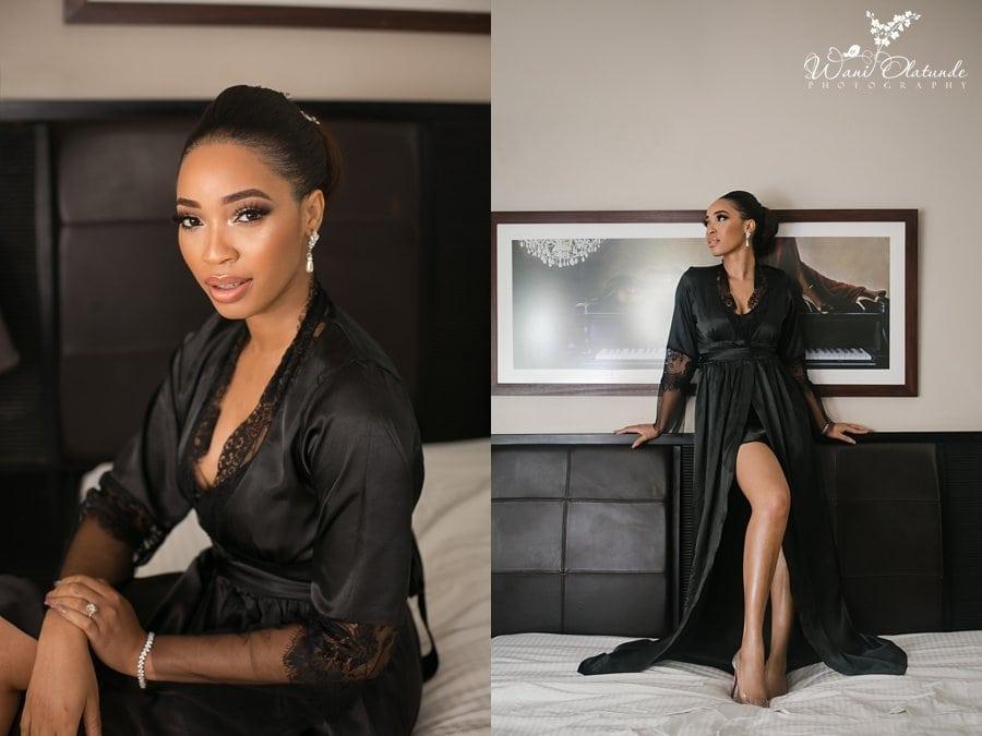 black bridal robe wani olatunde