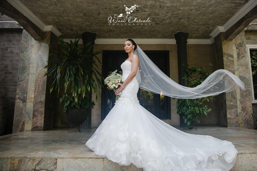 beautiful bride veil shot lagos wedding wani olatunde