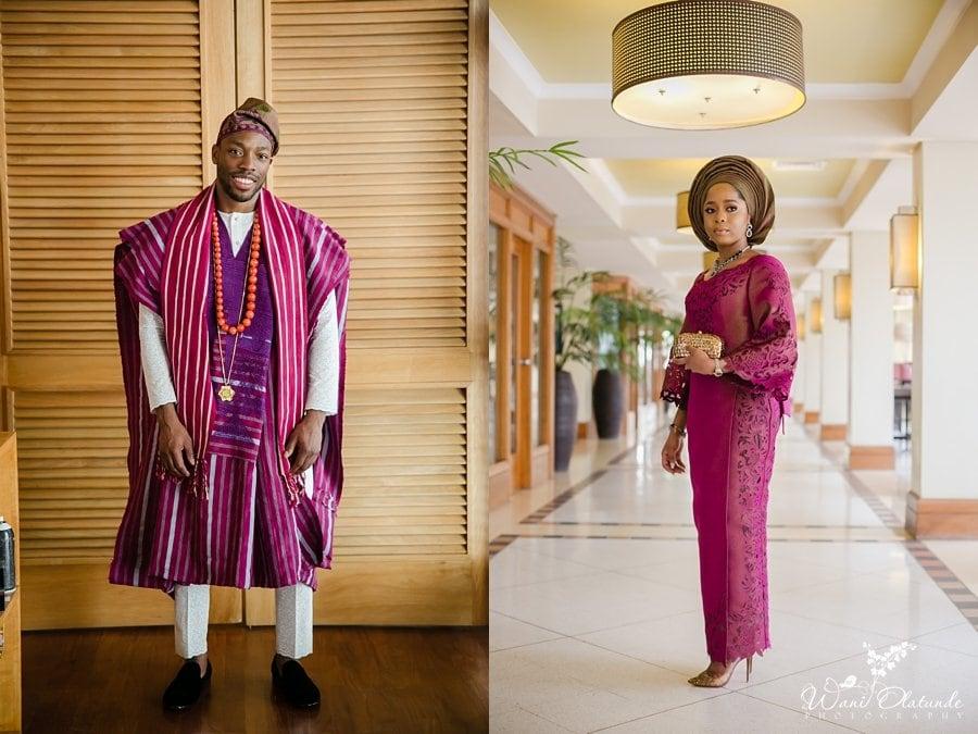 yoruba groom purple agbada wani olatunde