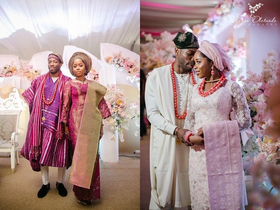 yoruba couple traditional wedding wani olatunde