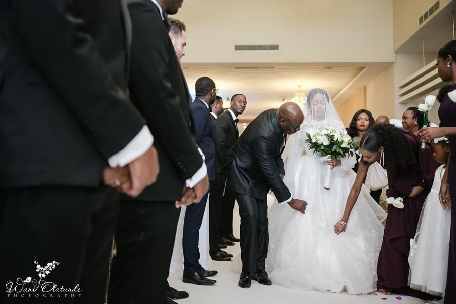oriental hotel wedding wani olatunde