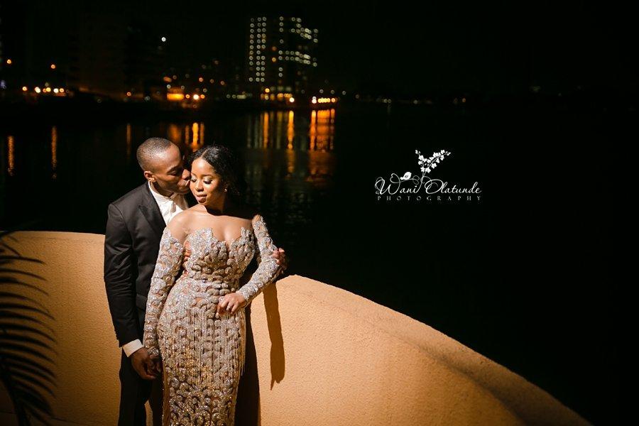 beautiful couple oriental hotel wedding wani olatunde