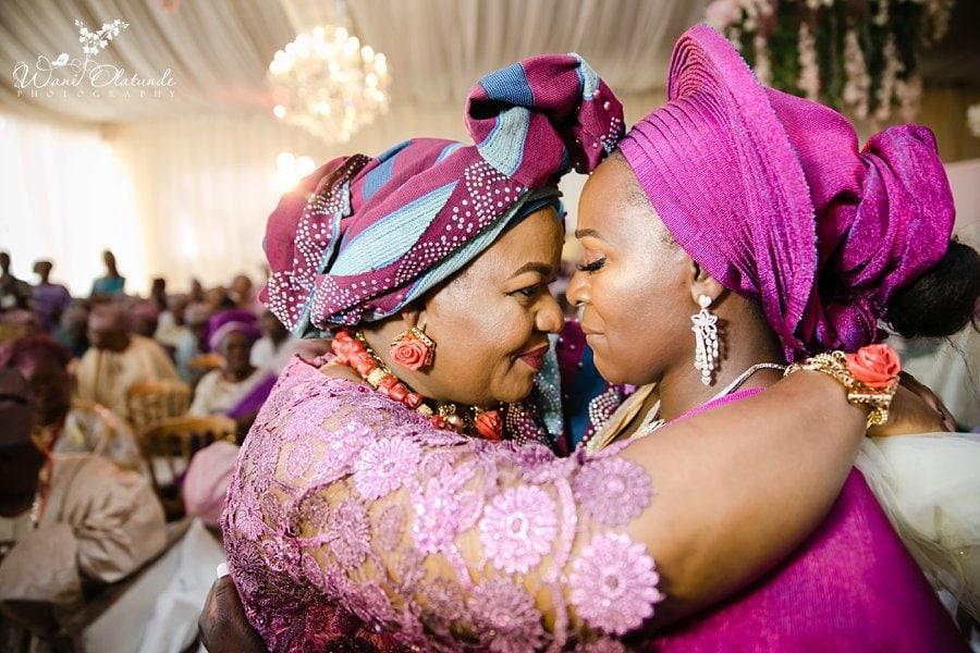 mother daughter emotional wedding wani olatunde