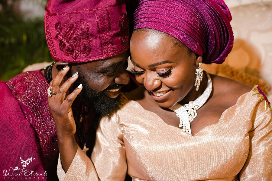 bride groom traditional nigerian wedding wani olatunde