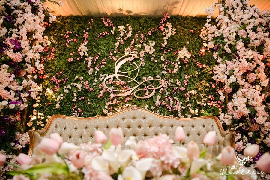 sarao decor traditional floral wedding wani olatunde