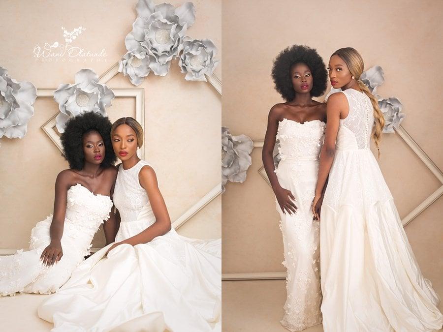 floral frames bridal shoot wani olatunde