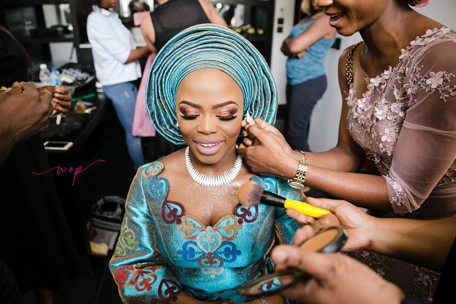 bride getting ready weddings wani olatunde