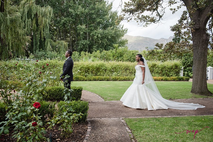 bride and groom first look wani olatunde