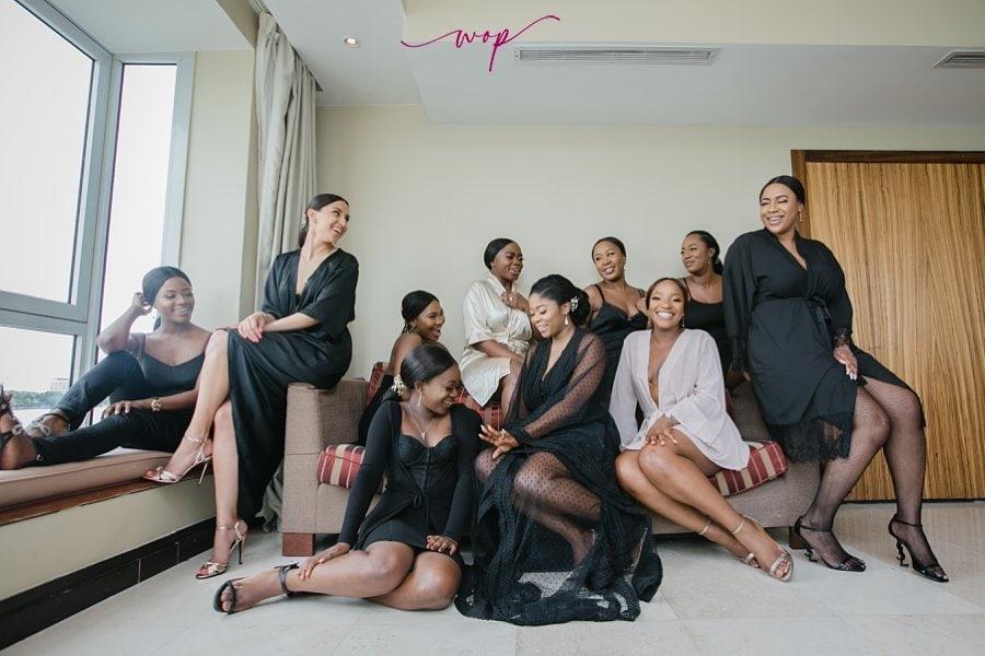 bridesmaids robes poses wani olatunde