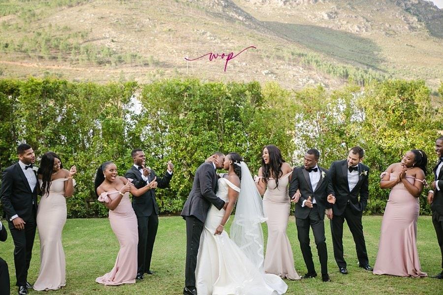 bridal wedding party poses wani olatunde