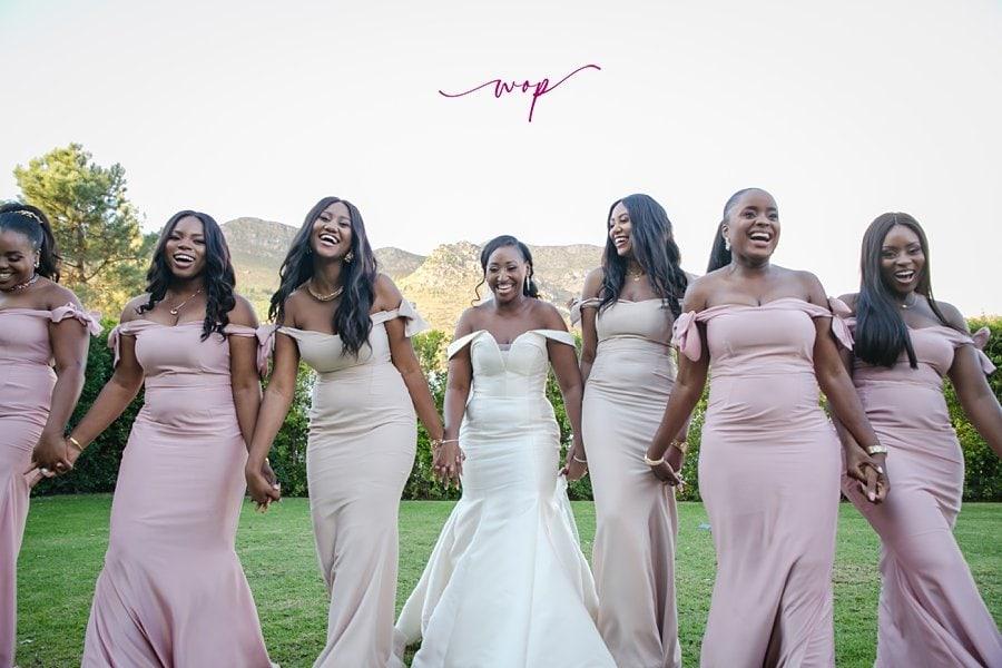 fun bridal party poses wani olatunde