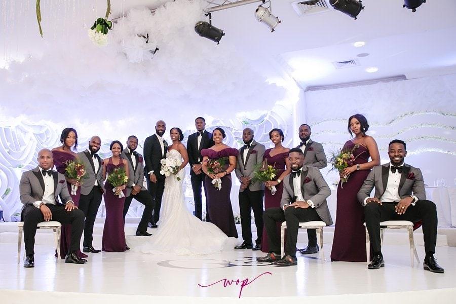 classy bridal party pose wani olatunde