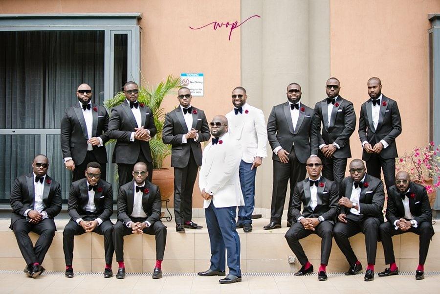 groom groomsmen in sunglasses posing wani olatunde