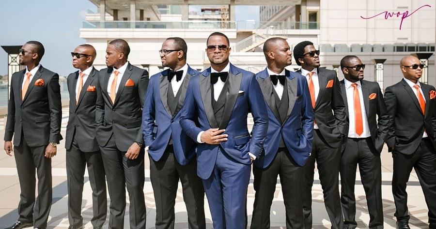 v pose groomsmen wedding wani olatunde