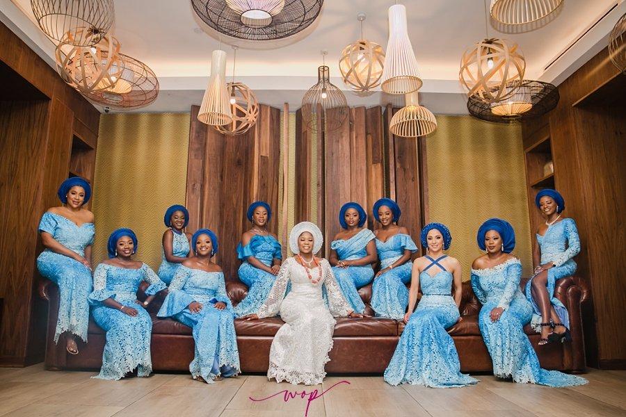 yoruba bridal party pose wani olatunde