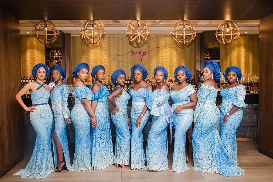 yoruba wedding bridal party poses wani olatunde