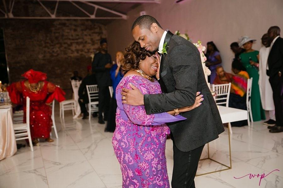 emotional mother son groom dancing weddings wani olatunde
