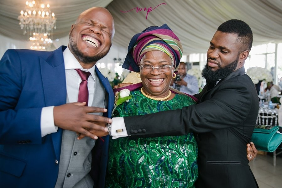 funny mother son groom wedding moment wani olatunde