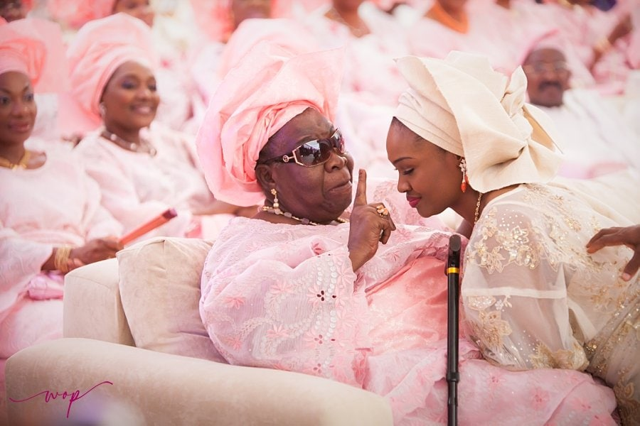 heartwarming grandmother bride wedding moment wani olatunde