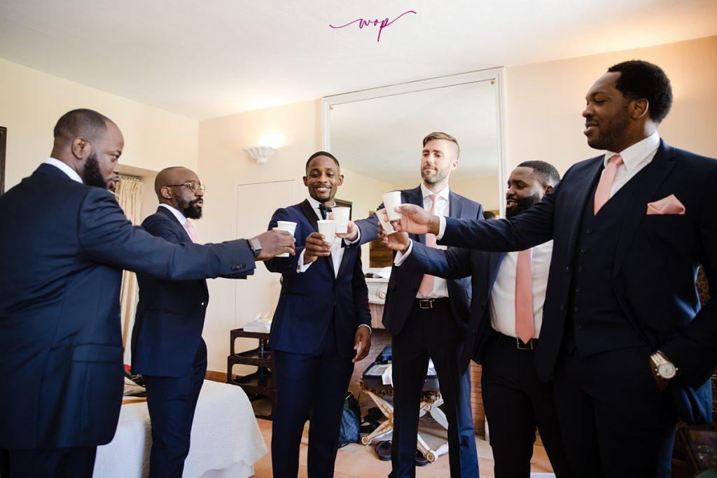 groomsmen getting ready wedding wani olatunde