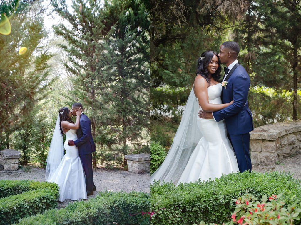 gorgeous bride groom outdoors green wani olatunde