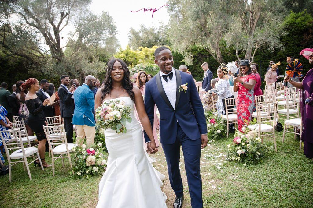 nigerian couple outdoor wedding ceremony wani olatunde