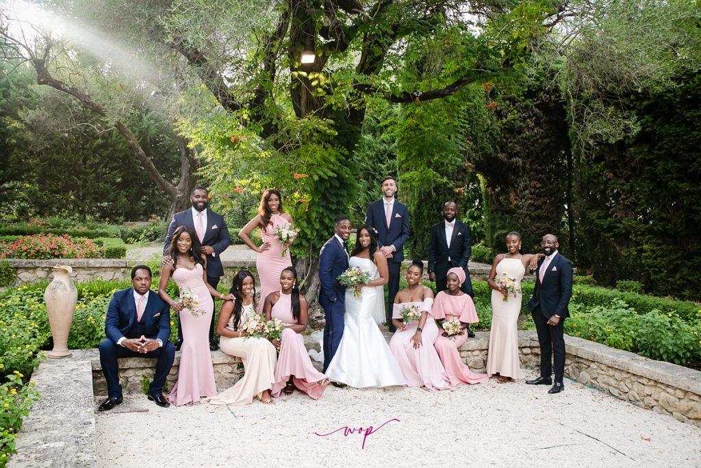 nigerian bridal party destination wedding france wani olatunde
