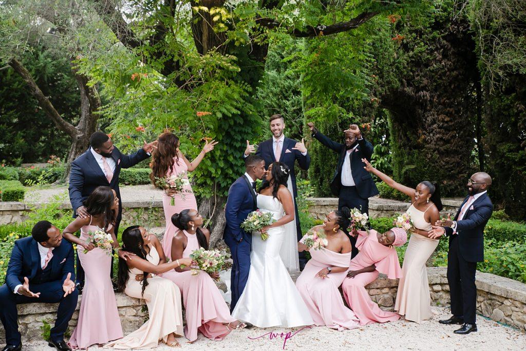 nigerian couple destination wedding france wani olatunde