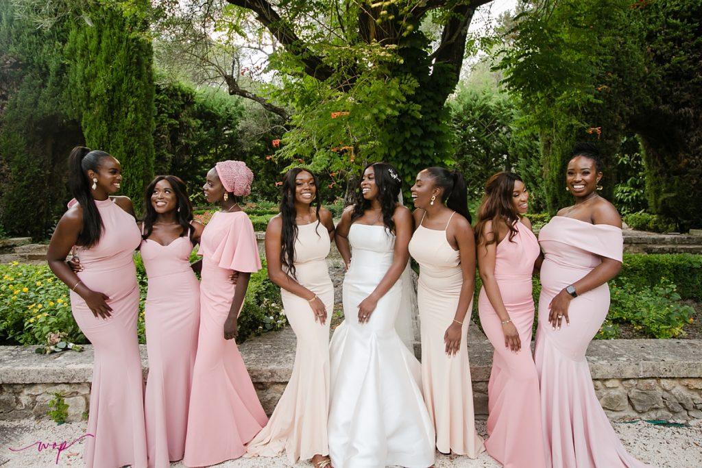 nigerian bridesmaids destination wedding france wani olatunde