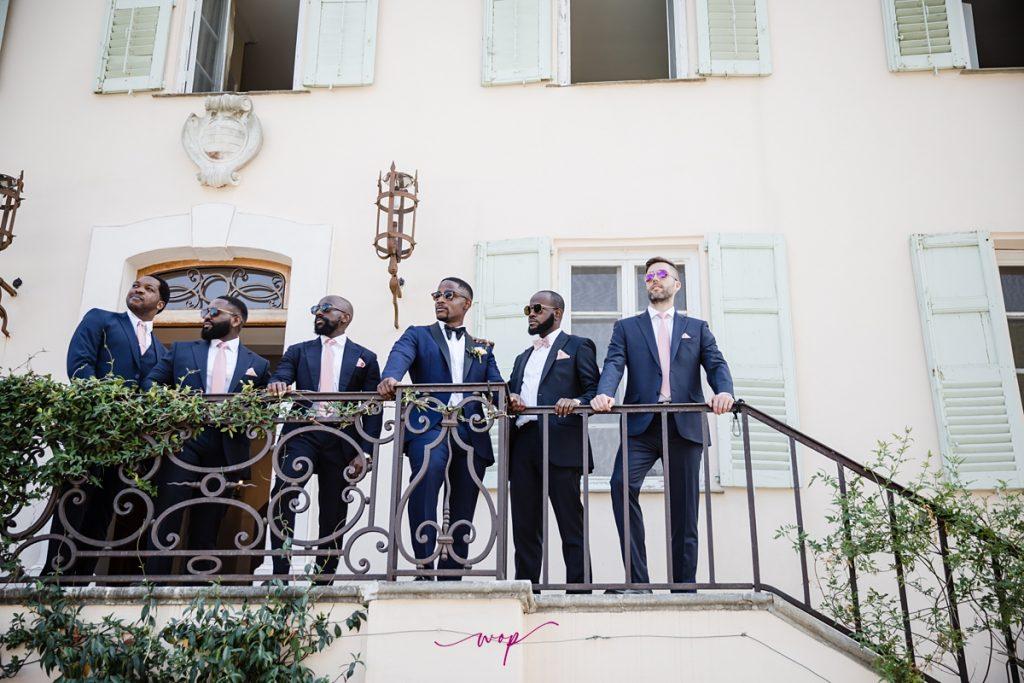 nigerian groomsmen destination wedding france wani olatunde