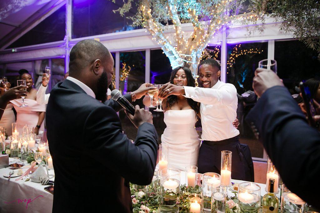 best man giving toast wedding wani olatunde