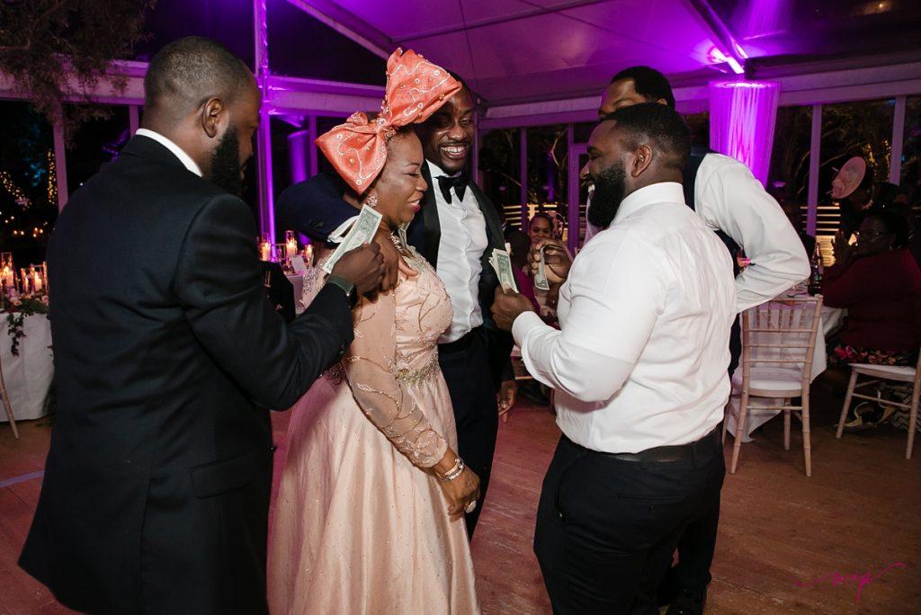 mother dancing wedding wani olatunde